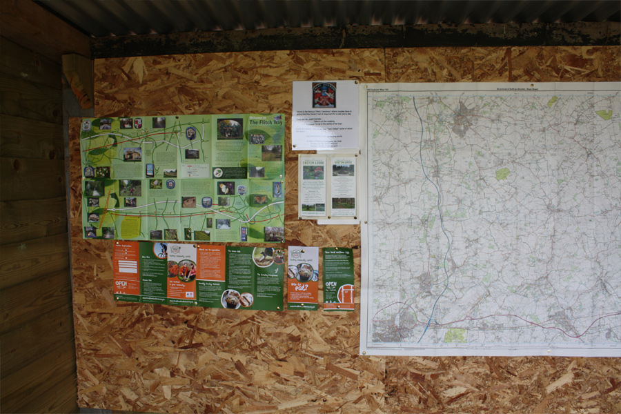 Local map and information about the local area in our tourist hut