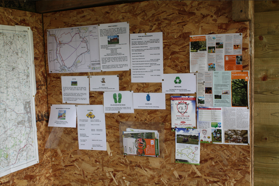 Local events and information about the local area in our tourist hut
