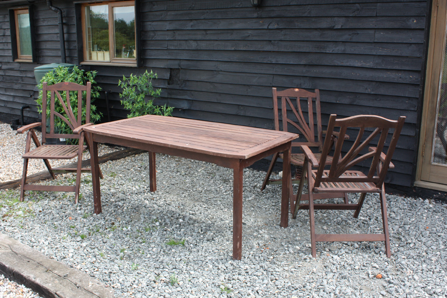 Patio furniture available at each cottage for you to enjoy the countryside views